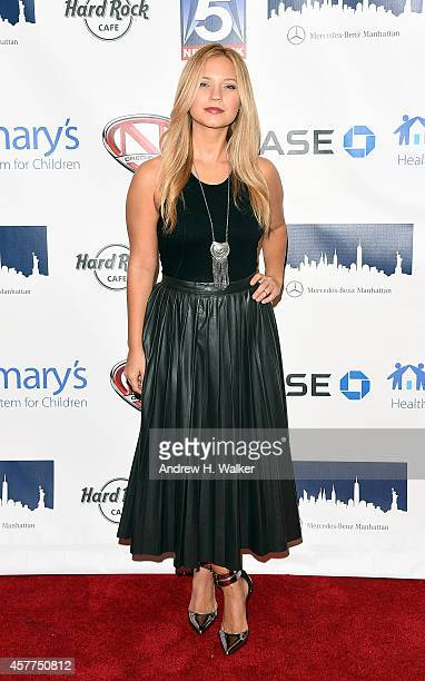 Vanessa Ray attends a tribute to Nick Cannon benefiting St Mary's Healthcare System For Children at Hard Rock Cafe Times Square on October 23 2014 in...