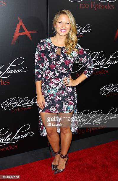 Vanessa Ray attends the Pretty Little Liars Celebrates 100 Episodes held at the W Hollywood Hotel on May 31 2014 in Hollywood California