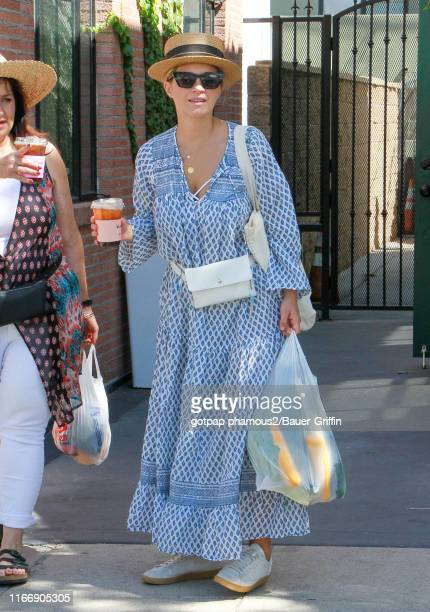 Vanessa Ray is seen at the Farmer's market on September 08 2019 in Los Angeles California