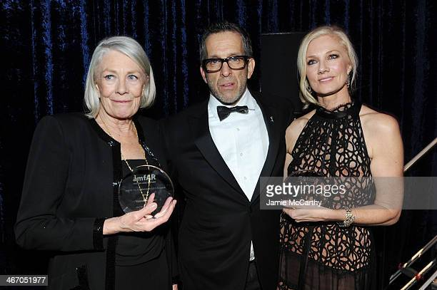 Vanessa Redgrave amfAR Chairman Kenneth Cole and Joely Richardson attend the 2014 amfAR New York Gala at Cipriani Wall Street on February 5 2014 in...