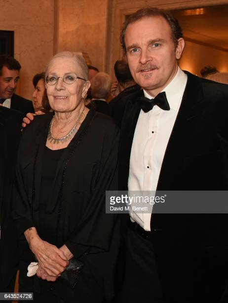 Vanessa Redgrave and Carlo Gabriel Nero attend the annual BFI Chairman's Dinner honouring Peter Morgan with the BFI Fellowship at Claridge's Hotel on...
