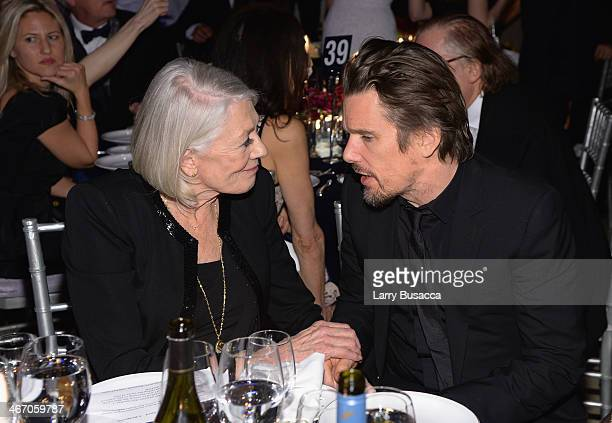 Vanessa Redgrave and Ethan Hawke attend the 2014 amfAR New York Gala at Cipriani Wall Street on February 5 2014 in New York City