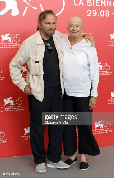 Vanessa Redgrave and Franco Nero attend a photocall where she is awarded a Lifetime Achievement Award during the 75th Venice Film Festival at Sala...