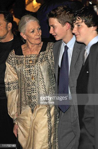 Vanessa Redgrave and her grandsons Micheal Neeson and Daniel Neeson seen leaving the Almay Concert to celebrate the Rainforest Fund's 21st birthday...