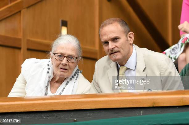 Vanessa Redgrave and her son Carlo Gabriel Nero attend day eight of the Wimbledon Tennis Championships at the All England Lawn Tennis and Croquet...