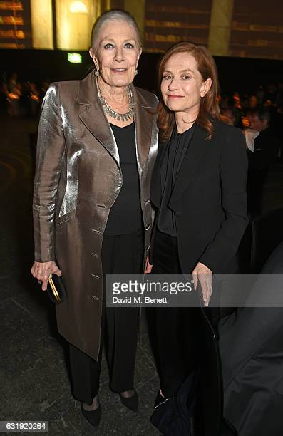 Vanessa Redgrave and Isabelle Huppert attend the IWC Schaffhausen 'Decoding the Beauty of Time' Gala Dinner during the launch of the Da Vinci...