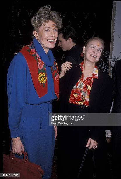 Vanessa Redgrave and Joanne Woodward during Luncheon in Honor of Vanessa Redgrave at Bukhara Restaurant in New York City New York United States