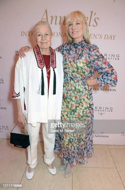 Vanessa Redgrave and Joely Richardson attend International Women's Day for The Caring Foundation with Salma Hayek at Annabel's on March 08 2020 in...
