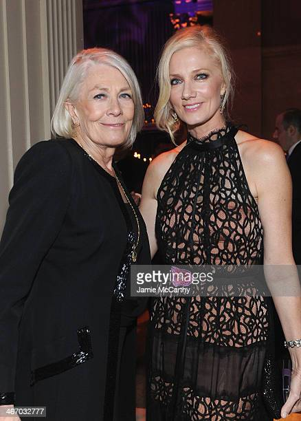 Vanessa Redgrave and Joely Richardson attend the 2014 amfAR New York Gala at Cipriani Wall Street on February 5 2014 in New York City