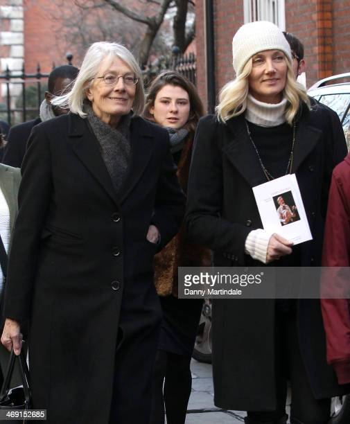 Vanessa Redgrave and Joely Richardson attend the funeral of actor Roger LloydPack at St Paul's Church on February 13 2014 in London England