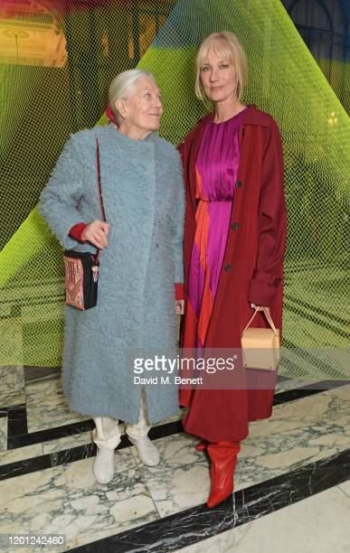 Vanessa Redgrave and Joely Richardson attend the Roksanda show during London Fashion Week February 2020 at The British Foreign and Commonwealth...