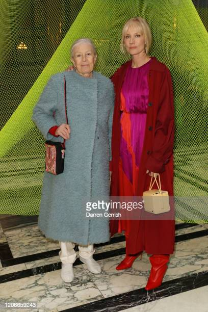 Vanessa Redgrave and Joely Richardson attend the Roksanda show during London Fashion Week February 2020 on February 16 2020 in London England