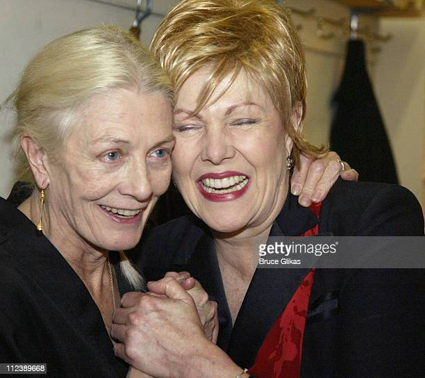 Vanessa Redgrave and Lynn redgrave Backstage during 'Long Day's Journey Into Night' Opening Night and After Party at The Plymouth Theater and Tavern...