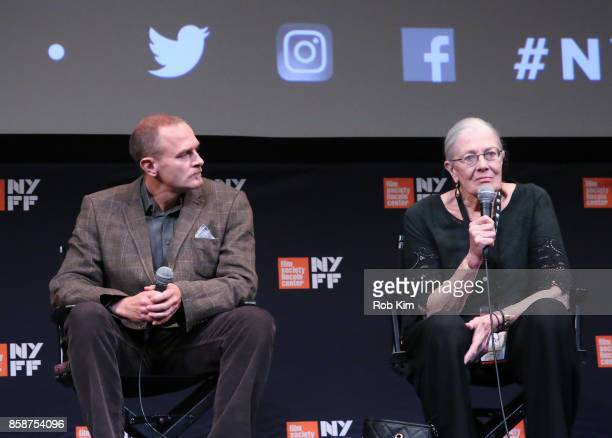 """Vanessa Redgrave and producer Carlo Gabriel Nero talk at a Q&A for the screening of """"Sea Sorrow"""" during the 55th New York Film Festival at The Film..."""