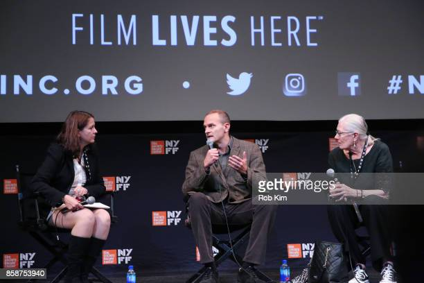 Vanessa Redgrave and producer Carlo Gabriel Nero talk at a Q&A on stage with Florence Almozini of The Film Society of Lincoln Center at the screening...