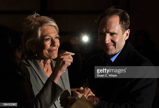 Vanessa Redgrave and Ralph Fiennes attend a special screening of Coriolanus at The Curzon Mayfair on January 5 2012 in London England