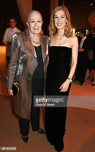 Vanessa Redgrave and Rosamund Pike attend the IWC Schaffhausen 'Decoding the Beauty of Time' Gala Dinner during the launch of the Da Vinci Novelties...