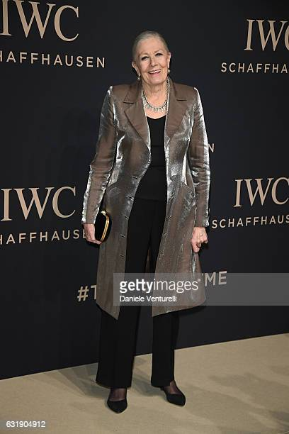 Vanessa Redgrave arrives at IWC Schaffhausen at SIHH 2017 'Decoding the Beauty of Time' Gala Dinner on January 17 2017 in Geneva Switzerland