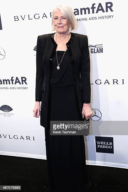 Vanessa Redgrave attends the 2014 amfAR New York Gala at Cipriani Wall Street on February 5 2014 in New York City