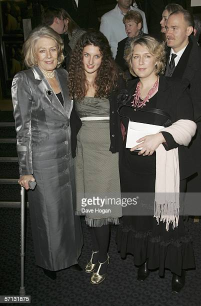 Vanessa Redgrave, Daisy Bevan and Mrs. Carlo Gabriel Nero arrive at the UK Premiere of 'The White Countess' at the Curzon Mayfair on March 19, 2006...