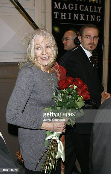 Vanessa Redgrave departs the Booth Theatre following the opening night of the show 'The Year of Magical Thinking'