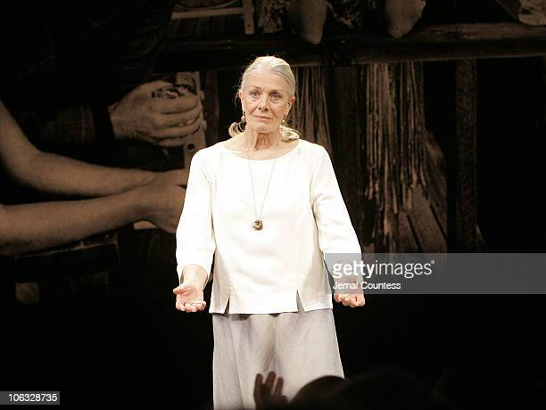 Vanessa Redgrave during 'The Year of Magical Thinking' Broadway Opening Night Curtain Call at Booth Theatre in New York City New York United States