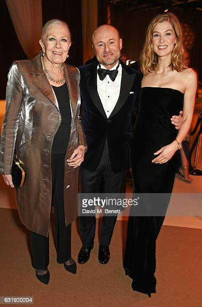Vanessa Redgrave IWC CEO Georges Kern and Rosamund Pike attend the IWC Schaffhausen Decoding the Beauty of Time Gala Dinner during the launch of the...