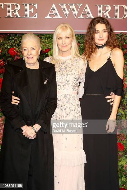Vanessa Redgrave Joely Richardson and Daisy Bevan arrive at The 64th Evening Standard Theatre Awards at the Theatre Royal Drury Lane on November 18...