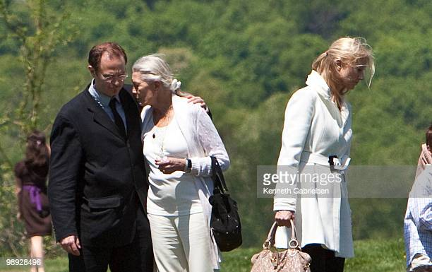 Vanessa Redgrave Joely Richardson and family and friends attend the funeral services for actress Lynn Redgrave at St Peter's Cemetery on May 8 2010...