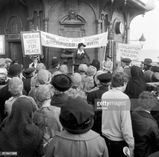 Vanessa Redgrave plays the part of Sylvia Pankhurst in the film 'Oh What a Lovely War' being made in Brighton Sussex Sylvia was the fiery daughter of...