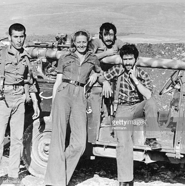 Vanessa Redgrave poses with members of the Palestine Liberation Organization, in Fatahland, while acting in The Palestinians. Redgrave is known for...