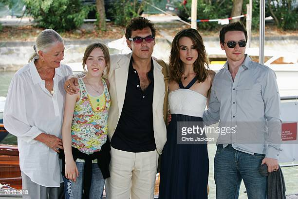 Vanessa Redgrave Saoirse Ronan director Joe Wright actors Keira Knightley and James McAvoy attend the Atonement Photocall during Day 1 of the 64th...