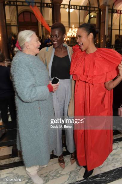 Vanessa Redgrave Sheila Atim and Zawe Ashton attend the Roksanda show during London Fashion Week February 2020 at The British Foreign and...