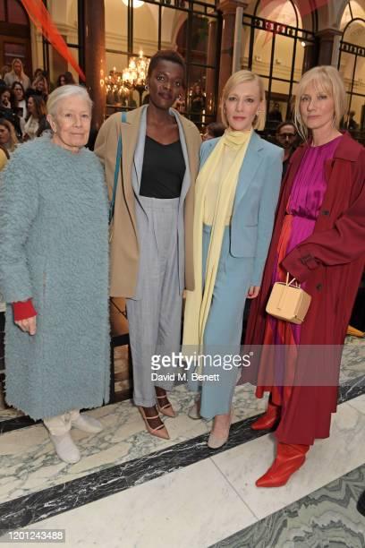 Vanessa Redgrave Sheila Atim Cate Blanchett and Joely Richardson attend the Roksanda show during London Fashion Week February 2020 at The British...