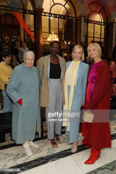 Vanessa Redgrave Sheila Atim Cate Blanchett and Joely Richardson attend the Roksanda show during London Fashion Week February 2020 on February 16...