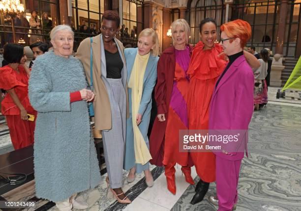 Vanessa Redgrave Sheila Atim Cate Blanchett Joely Richardson Zawe Ashton and Sandy Powell attend the Roksanda show during London Fashion Week...