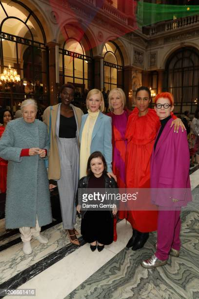 Vanessa Redgrave Sheila Atim Cate Blanchett Sinead Burke Joely Richardson Zawe Ashton and Sandy Powel attend the Roksanda show during London Fashion...