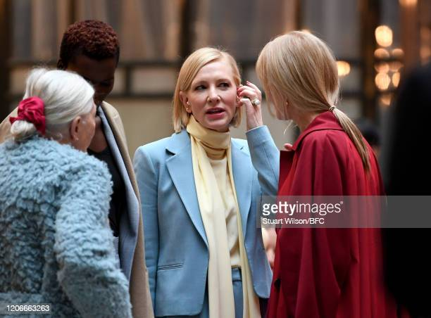 Vanessa Redgrave Sheila Atim Joely Richardson and Cate Blanchett at the Roksanda Show during London Fashion Week February 2020 on February 16 2020 in...