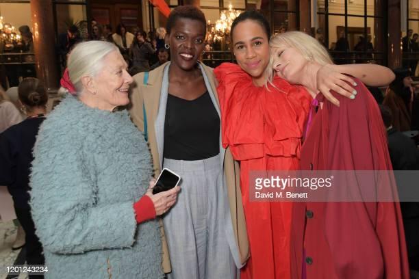 Vanessa Redgrave Sheila Atim Zawe Ashton and Joely Richardson attend the Roksanda show during London Fashion Week February 2020 at The British...