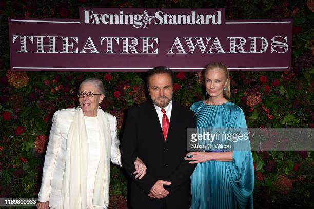 Vanessa RedgraveFranco Nero and Joely Richardson attend the 65th Evening Standard Theatre Awards at London Coliseum on November 24 2019 in London...