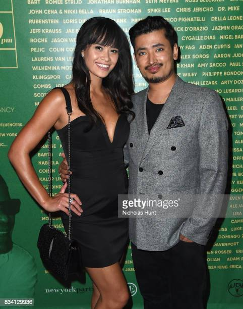 Vanessa Rumreich and Pritan Ambroase attend the George Wayne's Annual Downtown 100 Party at Hotel Chantelle on August 17 2017 in New York City
