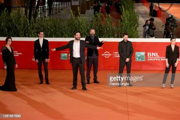 Vanessa Scalera, Ivana Lotito, Francesco DI Napoli, Matteo Rovere, Sergio Romano, Andrea Arcangeli and Marianna Fontana attend the red carpet of the...