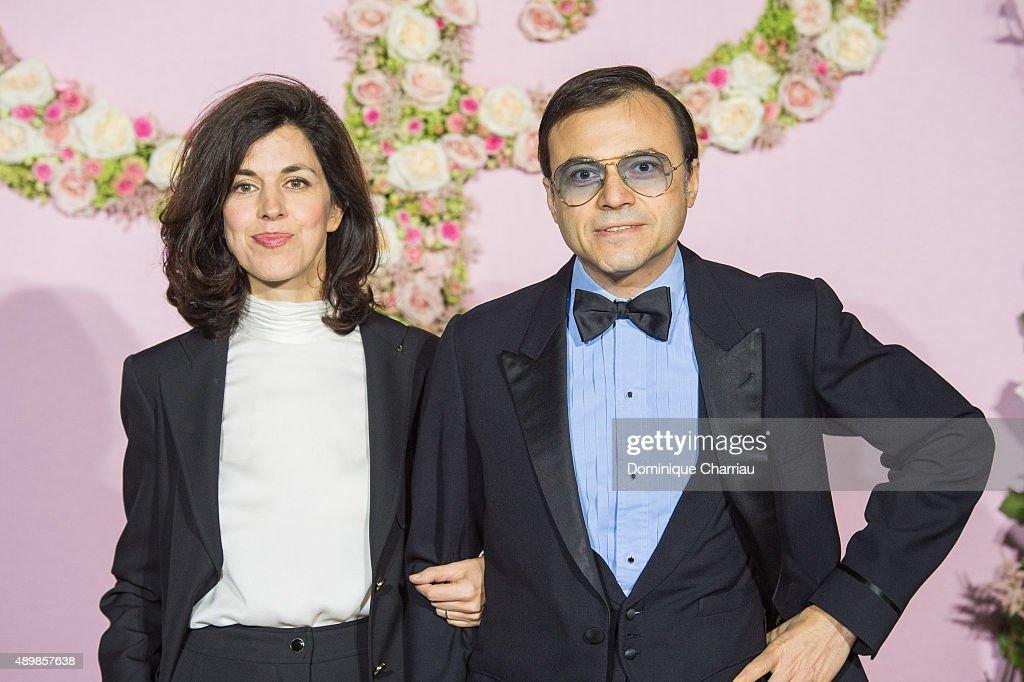 Vanessa Seward and Bertrand Burgalat attend the Ballet National de Paris Opening Season Gala at Opera Garnier on September 24, 2015 in Paris, France.