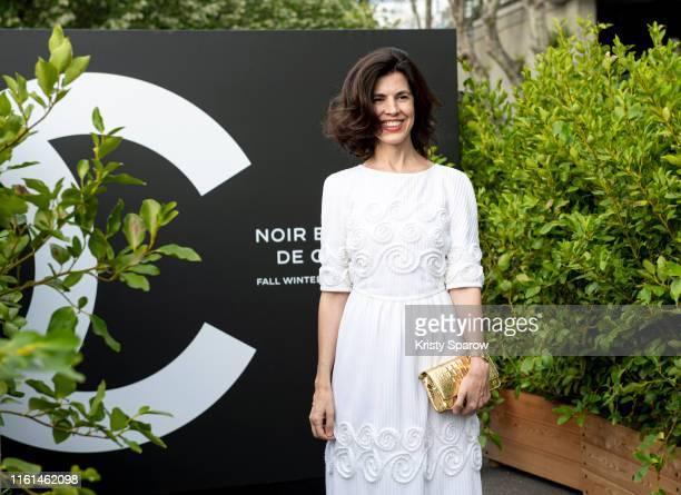 Vanessa Seward attends the Noir et Blanc de Chanel Fall/Winter 2019 Makeup Collection Yachts De Paris on July 11 2019 in Paris France