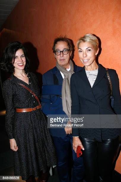 Vanessa Seward Gilles Dufour and Mathilde Favier attend Sylvie Vartan performs at L'Olympia on September 15 2017 in Paris France