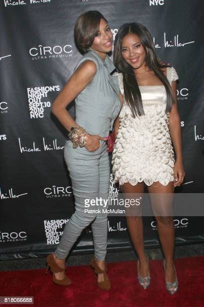 Vanessa Simmons and Angela Simmons attend Nicole Miller and Cassie Host Fashion's Night Out at Nicole Miller 77 Greene St on September 10th 2010 in...