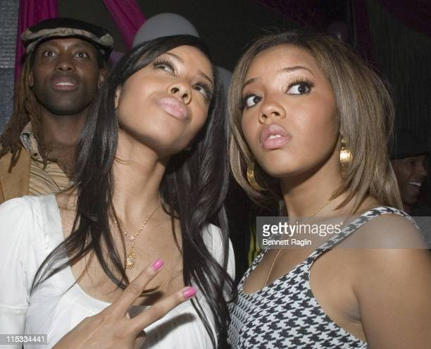 Vanessa Simmons and Angela Simmons during New York Launch of Vanessa and Angela's New Sneaker 'Pastry' After Party at Ultra in New York City New York...
