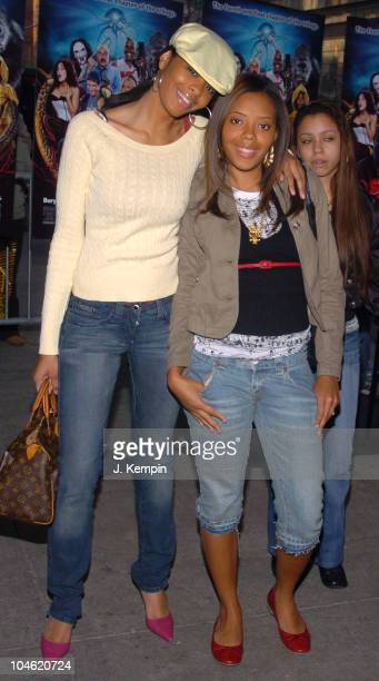 Vanessa Simmons and Angela Simmons during Scary Movie 4 New York City Premiere Arrivals at Loews Lincoln Square in New York City New York United...