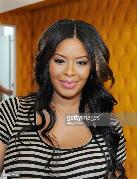 Vanessa Simmons attends her Baby Shower at Sugar Factory Hollywood on January 18 2014 in Los Angeles California