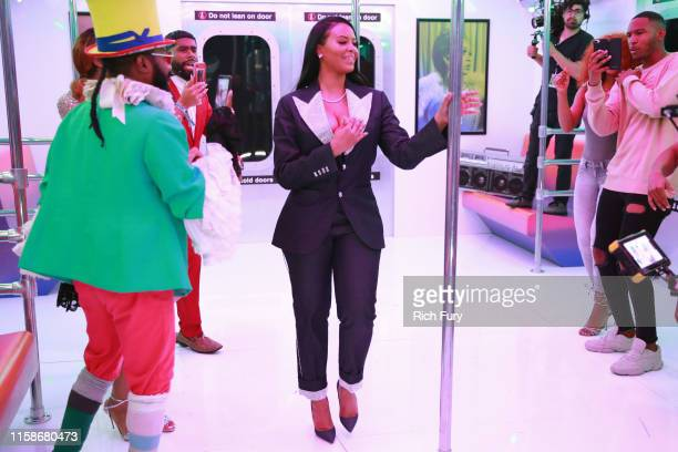 Vanessa Simmons attends the InstaCarpet during the BET Awards 2019 at Microsoft Theater on June 23 2019 in Los Angeles California